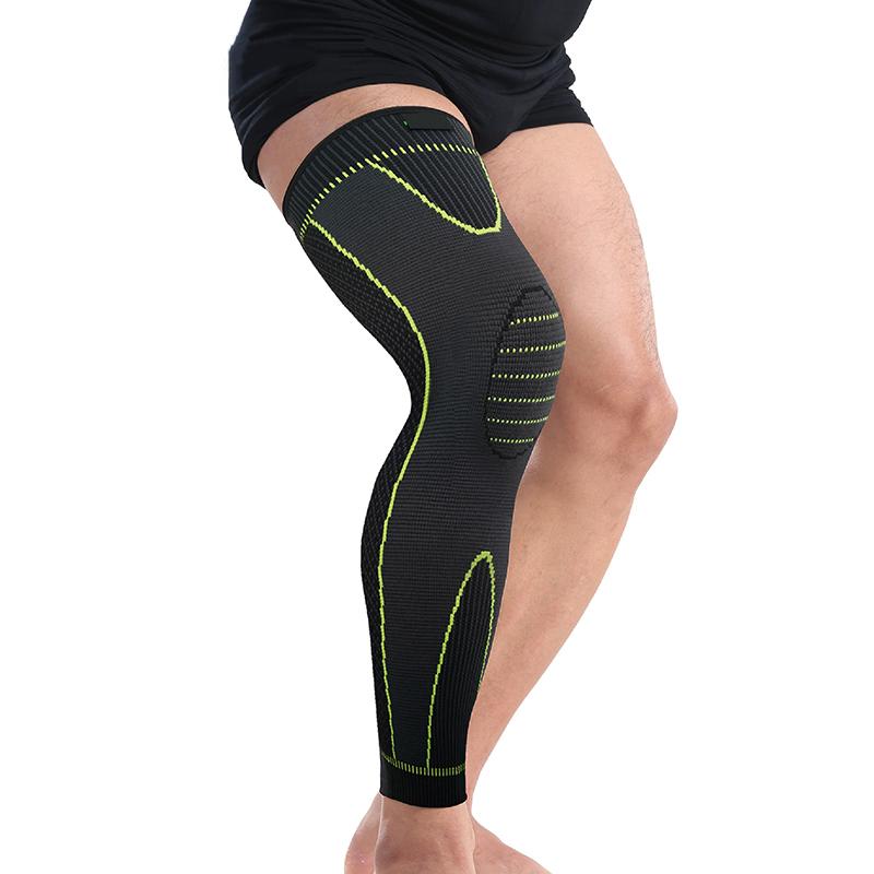 Amazon hot sale Long Knee Protector Brace Leg Sleeve Knee Pads Calf Knee Support Brace Protector Leg Warm Dropshipping Kneepads